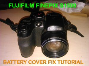 Fujifilm Finpix S1500 Battery Cover Fix Tutorial