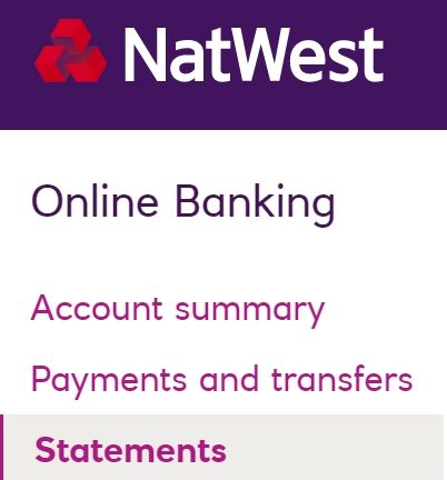 Natwest Online Banking - Printing Repro Paper A5 Statements Online